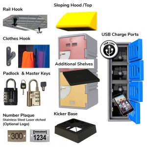 locker shelves and accessories